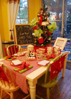 I think we may do a North Pole breakfast this year! Not as elaborate as this one, but this is a super cute idea!!