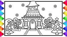 How to Draw a Castle | Candy Land Castle Coloring Page ...