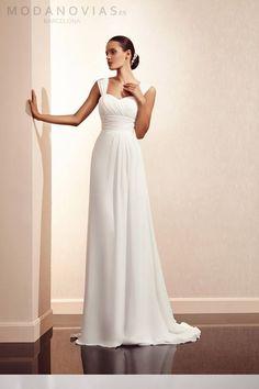 Vestidos de novia sencillos en colores