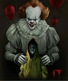In a small town in Maine, seven children known as The Losers Club come face to face with life problems, bullies and a monster that takes the shape of a clown called Pennywise. Scary Movies, Horror Movies, Good Movies, Le Clown, Creepy Clown, Que Horror, Horror Art, Pennywise The Dancing Clown, Evil Clowns