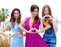 Lily Aldridge, Adriana Lima and Behati Prinsloo shared their love at the Victoria's Secret Angels What Is Sexy? list reveal