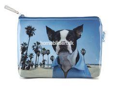Køb lille Catseye toilettaske, blå hund her - til en skarp pris