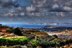 Outskirts of Mellieha overlooking Ta Cenc Cliffs on Gozo