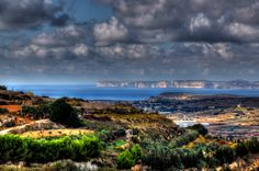 Outskirts of Mellieha overlooking Ta Cenc Cliffs on Gozo