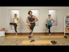 Lifetime C9 Challenge 20-Minute Total Body Home Workout with Adam Rosante | Class FitSugar - YouTube