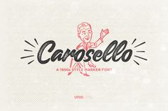 Carosello Font by Uniocs Highly versatile hand-made font. Ideal for vintage quotes, inspirational phrases and retro designs.