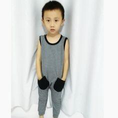 $5.99 (Buy here: https://alitems.com/g/1e8d114494ebda23ff8b16525dc3e8/?i=5&ulp=https%3A%2F%2Fwww.aliexpress.com%2Fitem%2F2015-New-Fashion-Baby-Boys-Girls-Summer-Palmer-Stree-Playsuits-Boys-Sports-Suits-Girls-100-Cotton%2F32499866628.html ) Baby Boys Girls Summer Romper Toddler Cotton Tank Jumpsuit Kids Plain Gray Palmer Stree Playsuits 2017 New 28F for just $5.99