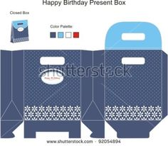 Blue and White Present Box