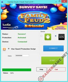 Unlimited Coins in Family Feud 2  Download Family Feud 2 Cheats:  http://easiergame.net/family-feud-2-cheat-hack-ios-android/