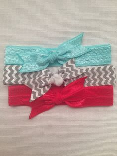 Tiffany set of elastic hair ties on Etsy, $3.25