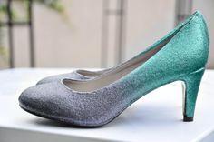 Light blue ombre low heels blue pumps something blue shoes high heel low heels flat shoes blue shoes blue glitter heels blue bridal shoes