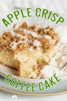 Two classic desserts…in one! Apple Crisp Coffee Cake is stuffed with apples, topped with a brown sugar oatmeal streusel and an apple cider glaze. Breakfast or dessert…you choose. Apple Cake Recipes, Best Cake Recipes, Fall Recipes, Beef Recipes, Old Fashioned Cake Recipe, Brown Sugar Oatmeal, Classic Desserts, Breakfast Cake, Apple Crisp
