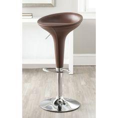 Safavieh Shedrack Brown Adjustable Height Swivel Bar Stool | Overstock.com Shopping - Great Deals on Safavieh Bar Stools