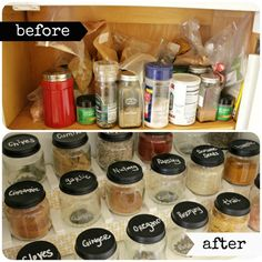 Easy DIY Spice Rack-I love labeling the top of my Wildtree jars and oils with a silver sharpie! Makes what I'm looking for super quick to find! Toy Room Organization, Notebook Organization, Spice Organization, Organization Station, Diy Spice Rack, Spice Storage, Galley Kitchen Redo, Diy Drawer Organizer, Spice Labels