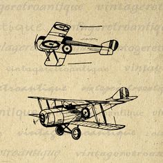 Free Printable Vintage Plane Art