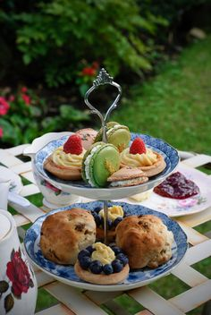 Afternoon teas in the backyard
