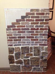 Featured in CBC Showroom:Real thin stone Thin brick Thin Brick, Showroom, Stone, Interior, Diy, Rock, Indoor, Bricolage, Batu