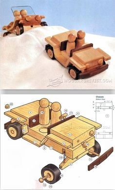 Wooden Jeep Plans - Wooden Toy Plans and Projects | WoodArchivist.com
