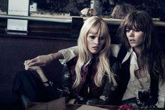 Lara Stone et Freja Beha Erichsen VOGUE