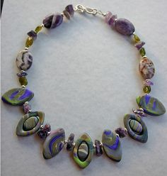 Purple and Green Faux Stone Necklace
