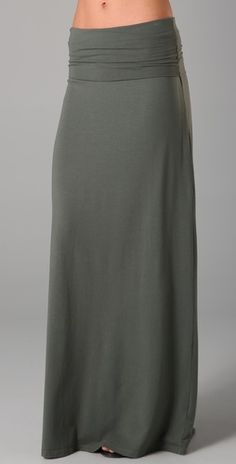 Splendid Grey Maxi Skirt - Love the waist! Great with a white tank, scarf and straw fedora!! Comfy and Chic! $83
