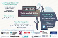 TECHIN2B Training&Talk Serisine Davetlisiniz.