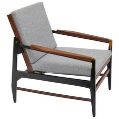 """Italian 1960's Gio Ponti """"Leggera"""" Style Armchair   From a unique collection of antique and modern armchairs at https://www.1stdibs.com/furniture/seating/armchairs/"""