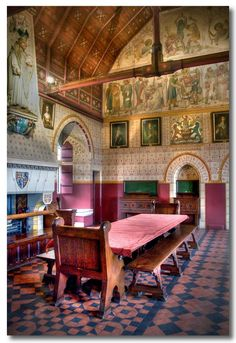 Castell Coch, South Wales. Interior by William Burges, late 1800s.
