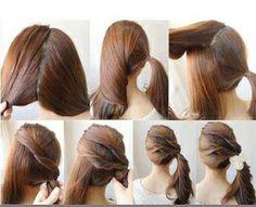 este es un peinado facil para cualquier ocasion puedes estar linda elegante y casual