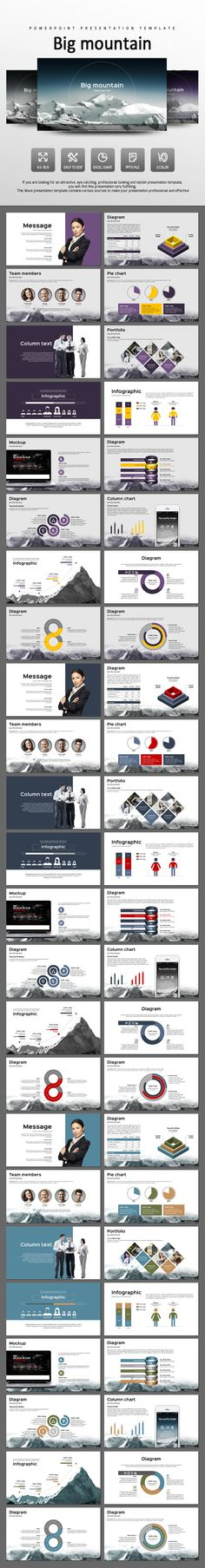 Big Mountain - PowerPoint Presentation Template #design #slides Download: http://graphicriver.net/item/big-mountain/14442476?ref=ksioks