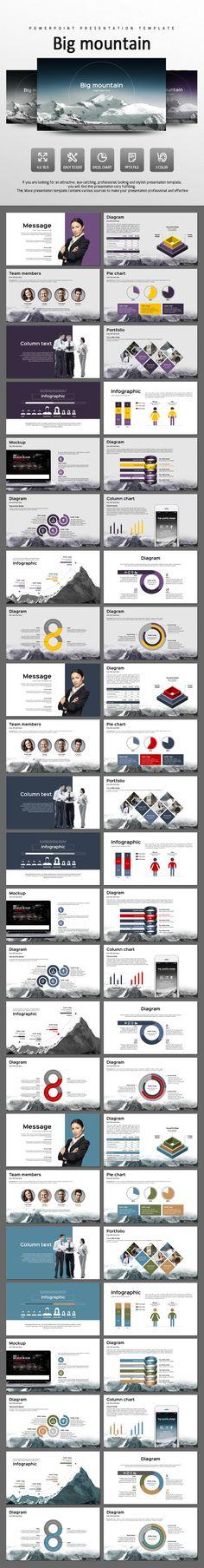 Big Mountain - PowerPoint Presentation Template #design #slides Download: http://graphicriver.net/item/big-mountain/14442476?ref=ksioks