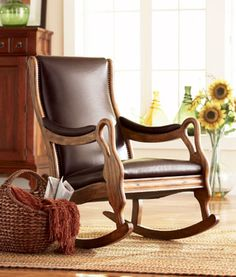 Leather Lodge Rocker I love this chair <3
