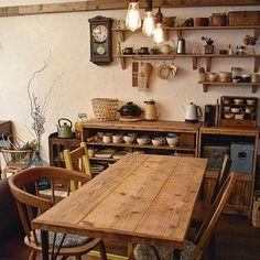 Cafe Interior Design, Cafe Design, Kitchen Interior, Interior Styling, Interior And Exterior, Café Interior, Korean Cafe, Korean Kitchen, Minimal Living