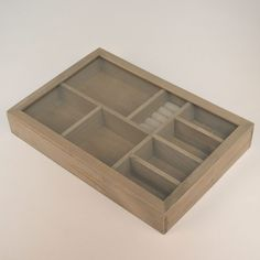 Multi-Section Wooden Display Box (Closed)