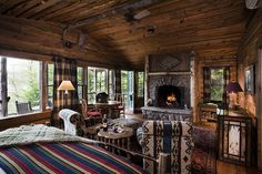 My dream hotel room:  Birch Hillside Cabin by Lake Placid Lodge NY, via Flickr