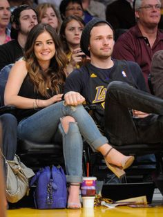 Lucy Hale, Joel Crouse...Best Celebrity Courtside Style - What Celebrities Wear to Sporting Events