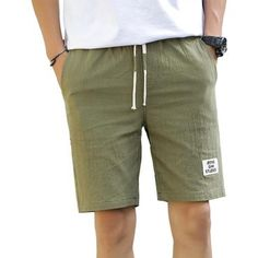 20a2d72984a3 2018 Summer Casual Shorts Mens Bermuda Breathable Linen Cotton Trousers  Beach Boardmodkily Casual Shorts