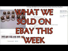 Here's a quick video showing our best sales on ebay from the last week.  Swarovski Earrings, Vintage Brass Lion Head Drawer Knobs, Airguide Barometer Thermometer, TV Mount, Le Vrai Gourmet Pizza Slicer, Thomas Train Trackmaster Tracks, Used Prescription Eyeglass Frames, Sunglasses