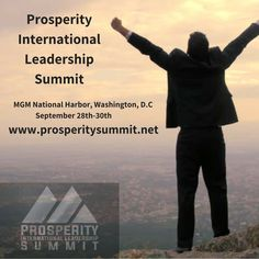 Grab your tickets to Prosperity! Do it now so all the seats aren't gone!