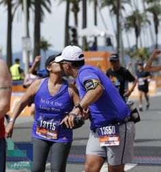 Who are you going to kiss on the finish line this Valentine's day?