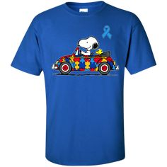 Snoopy- Autism awareness shirt – teesunny