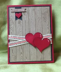 Stamp with Anna, Stampin Up, Hardwood, Sweetheart Punch, Valentine's Day