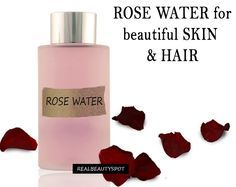 Rosewater can be used in variety of ways for both skin and hair. It is the cheapest and easiest way...