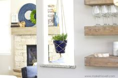 Great No Cost How to make a SIMPLE Rope Plant Hanger Tips If you have little space for the keeping flowerpots, holding flowerpots are a good Alternative to ra Crochet Plant Hanger, Rope Plant Hanger, Macrame Plant Holder, Plant Holders, Home Crafts, Diy Home Decor, Blue Plants, Hanging Flower Pots, Living Room Decor
