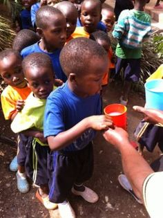 Bet you don't love #porridge as much as the #slum #children who go to our #Nursery #school in #Uganda!