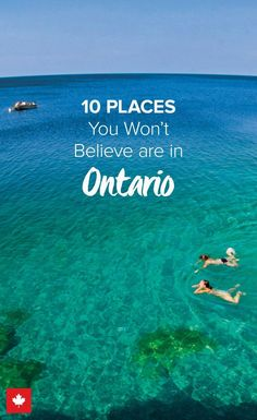 Ontario is so much more than meets the eye. Though most are familiar with the capital city, Ottawa, and the big urban centre, Toronto, much of its massive territory goes undiscovered. Travel to Canada and … Places To Travel, Travel Destinations, Places To Visit, Banff, Camping Info, Voyage Canada, Ontario Travel, Ontario Camping, Canadian Travel