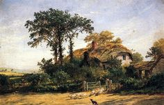 'The Cottage of the Dairyman's Daughter', Oil On Canvas by Jasper Francis Cropsey (1823-1900, United States)