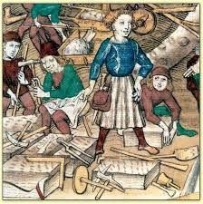 Risultati immagini per tailleur de pierre médiévale
