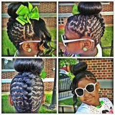 Cute style for girls ... Natural Kids Hair Style