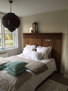 ... wand achter het bed HOME * Slaapkamer Pinterest Beds and Wands